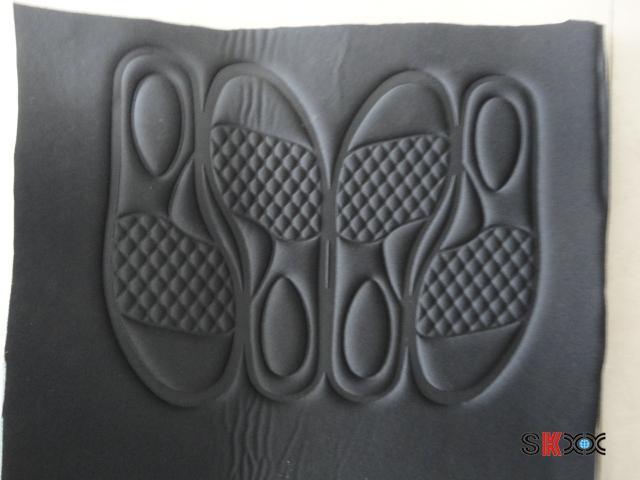 鞋印压花样品
